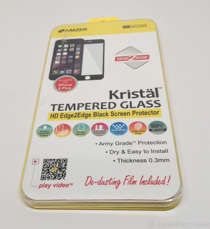 Amzer Kristal Edge2Edge Black Screen Protector for iPhone 6 Plus