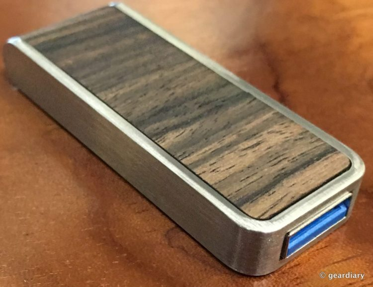 The Brinell Stick Single Action Wood USB 3.0 Flash Drive: Fast and Beautiful