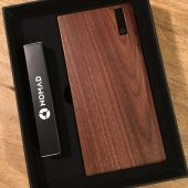 The Nomad PowerPlant American Walnut 12,000mAh Battery Is a Natural Beauty