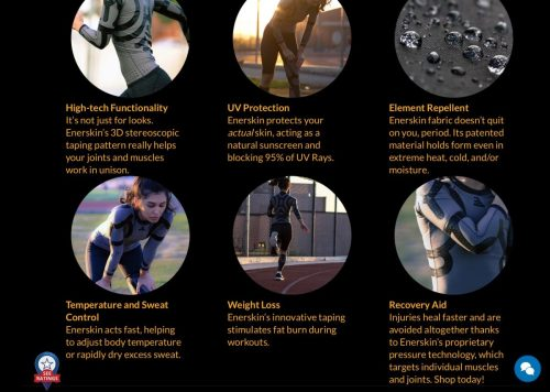 Enerskin Compression Sleeves are the Skin You Wish You Had!