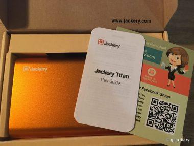 GearDiary The Jackery Titan 20,100mAh Portable Battery Review