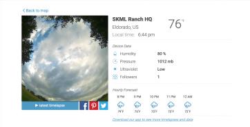 GearDiary BloomSky SKY1 Solar Powered Weather Camera Kit + Solar Panel Review