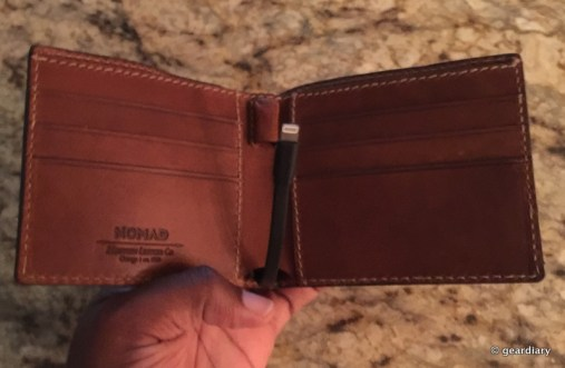 GearDiary Nomad's Leather Wallets Charge Your Phone While Carrying Your Cards
