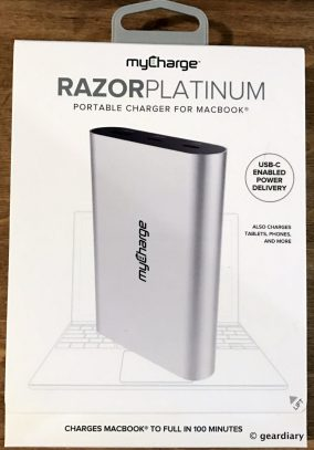 GearDiary MyCharge RazorPlatinum Portable Charger for MacBook Review