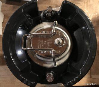 The brewing keg