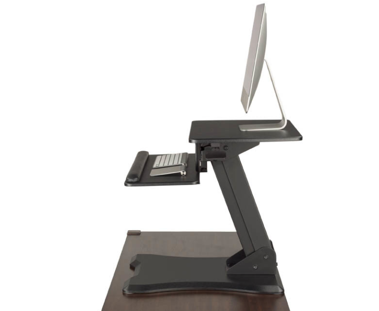 UPLIFT Adapt Height Adjustable Standing Desk Converter Takes You and Your Desk to New Heights
