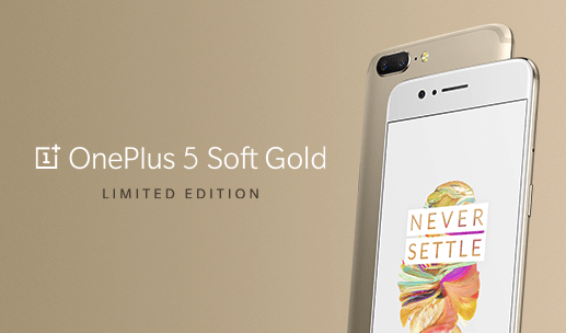 The OnePlus 5 Now Comes in a Limited Edition Soft Gold