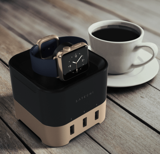Satechi Smart Charging Stand Charges Apple Watch, FitBit Blaze, Smartphone and More