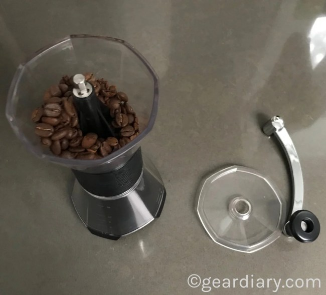 GearDiary Enjoy Delicious Morning Coffee with the Bialetti Manual Coffee Grinder and Glass Pourover Carafe