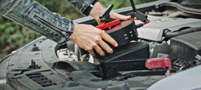Norshire 4-in-1 Kit: It's a Car Wash Kit, Jump Starter, Warning Sign, and a Power Bank!