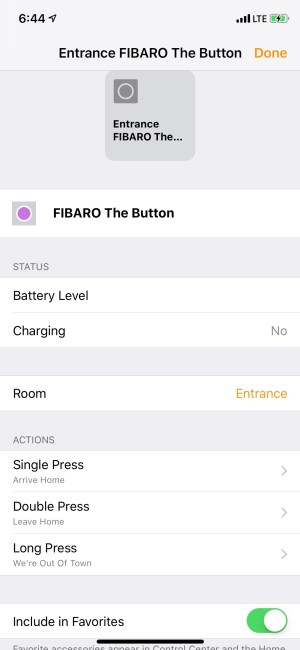 The Fibaro Button Is a Great Accessory for Your HomeKit-Enabled Home