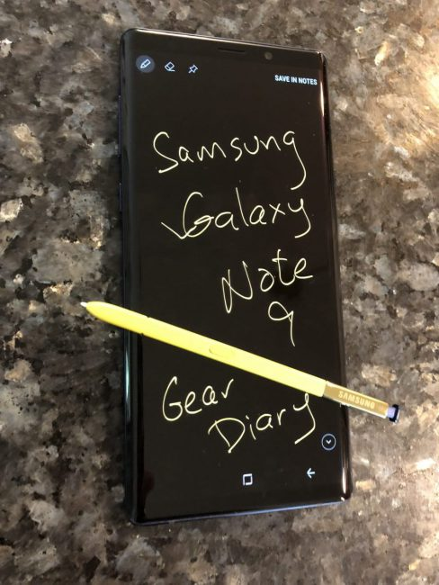 First Impressions of the Samsung Galaxy Note9