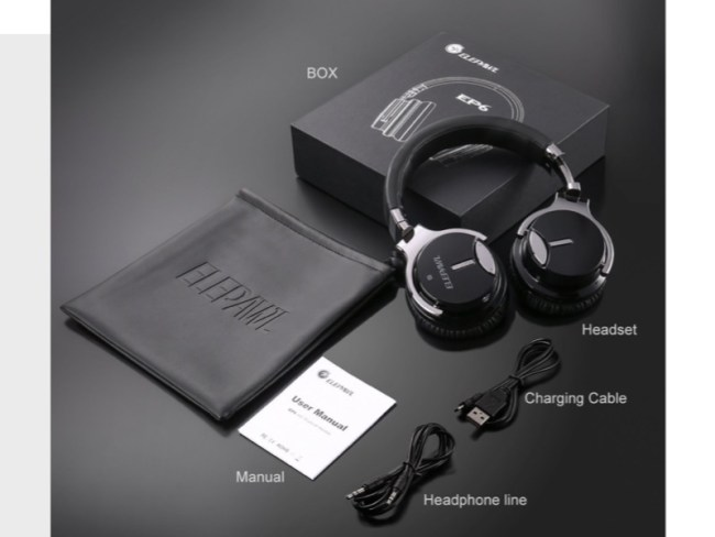 ELEPAWL EP6 Active Noise Canceling Wireless Bluetooth Headphones Offer Good Sound at a Great Value