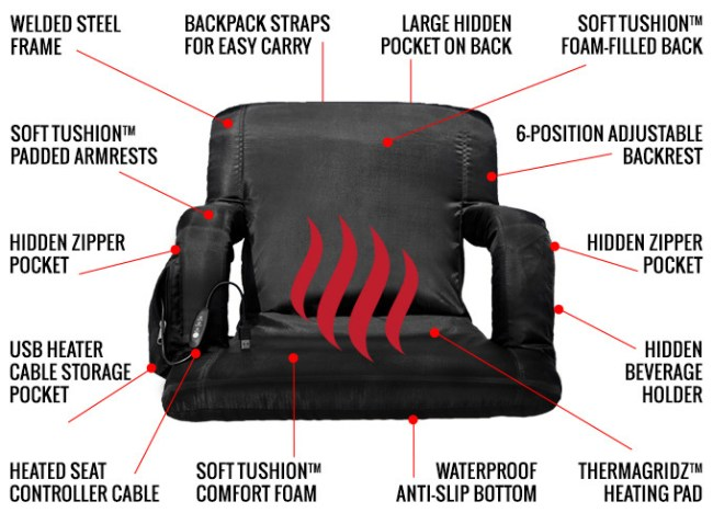 The Hot Seat: World's First USB Heated Stadium Chair