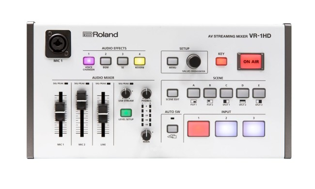 Portable Mixing Meets Multi-Camera Livestreams with the Roland VR-1HD