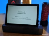 Press the Bluetooth button with the tablet inserted in the dock, then follow the prompts to pair. Done!