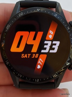 Burning watch face