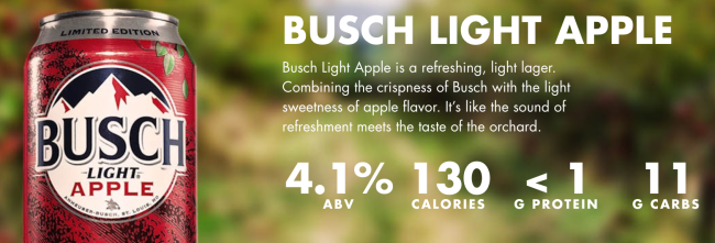 Busch Light Apple