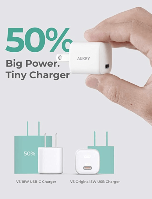 Aukey's Omnia Nano 20W PD Wall Charger Is the Charging Brick Your iPhone 12 Should've Come With