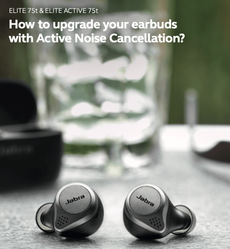 Jabra Adds ANC to Elite 75t/75t Active True Wireless Earphones