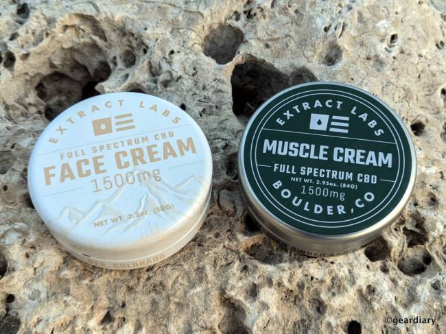 Extract Labs CBD Face Cream and Muscle Cream
