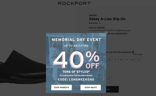 Rockport Offers Amazing Deals This Memorial Day Weekend