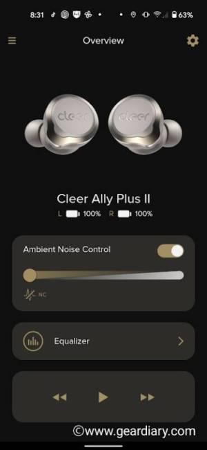 Cleer Ally Plus II app
