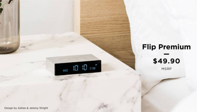Lexon Flip Premium Alarm Clock: A Stylishly Simple Way to Wake Up When Staying in Bed Isn't an Option