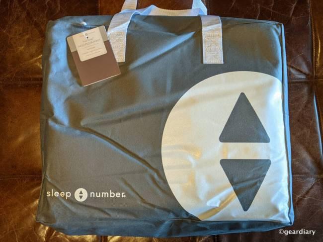 Sleep Number True Temp Weighted Blanket packaging