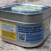 Side of the Caliper Swiftsticks Lemonade Flavored CBD Powder tin