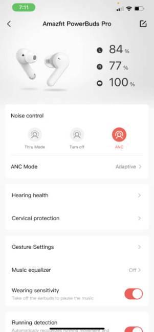 Amazfit PowerBuds Pro app screenshot