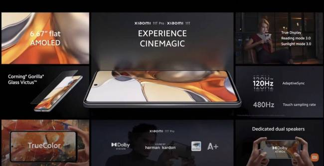 Cinemagic experience on the Xiaomi 11T Series