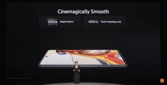 Displays on the Xiaomi 11T series devices.