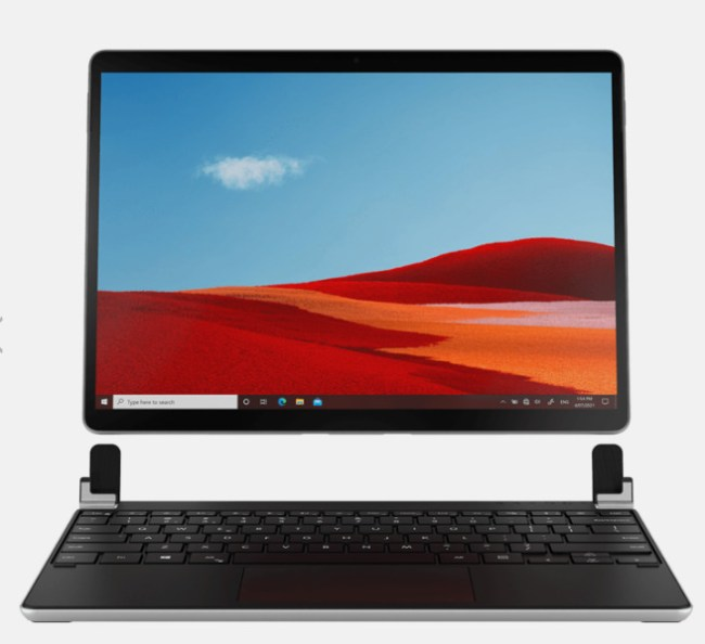 The Brydge SP+ Wireless Keyboard with Touchpad for Surface Pro 8