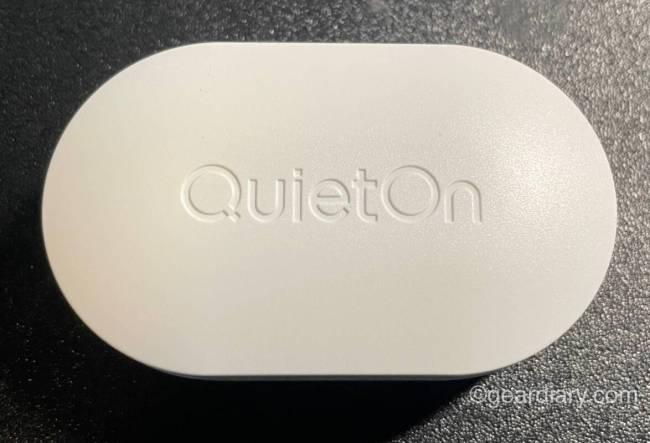 QuietOn 3 sleep earbuds case.