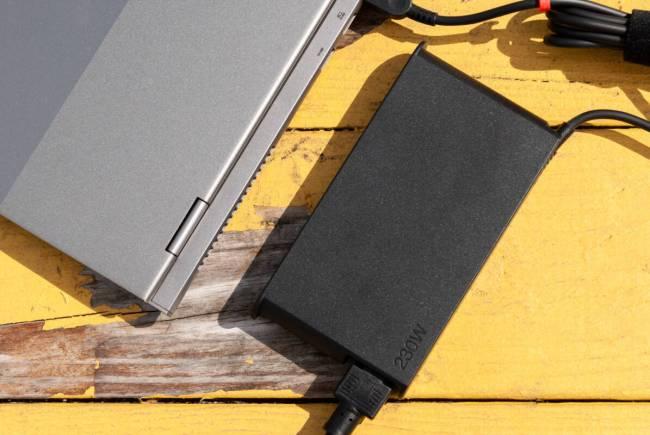 Lenovo ThinkBook 16p Gen 2 charging brick.