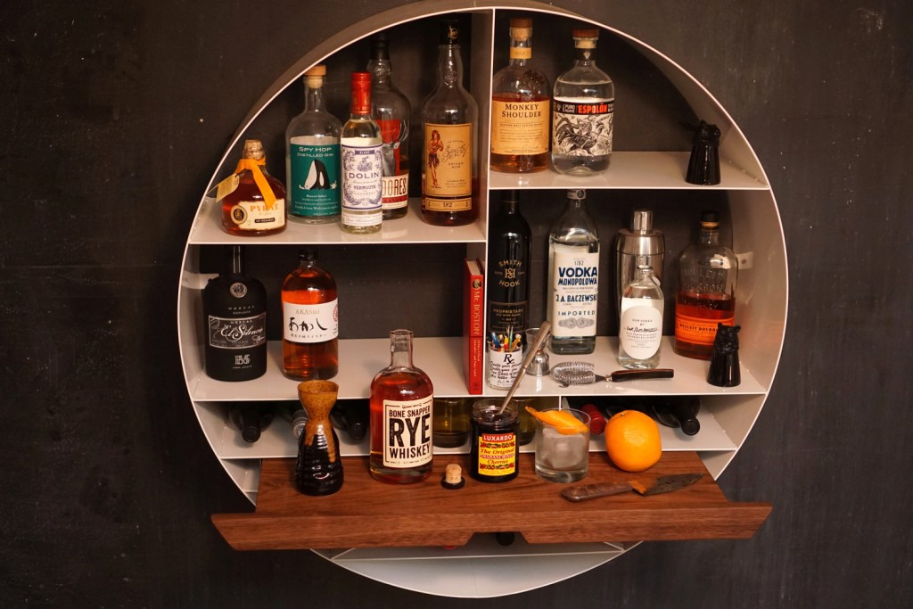 Sean Woolsey Libation Station–Not Your Everyday Liquor Cabinet