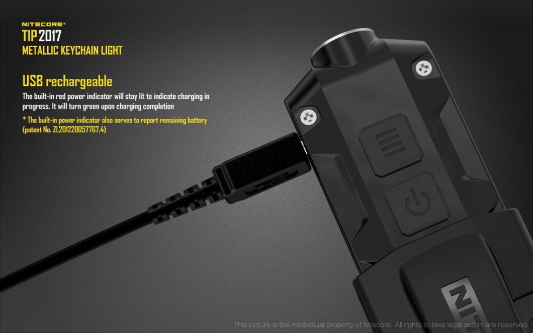 Nitecore TIP 2017 Upgrade 360 Lumen USB Rechargeable Keychain Flashlight