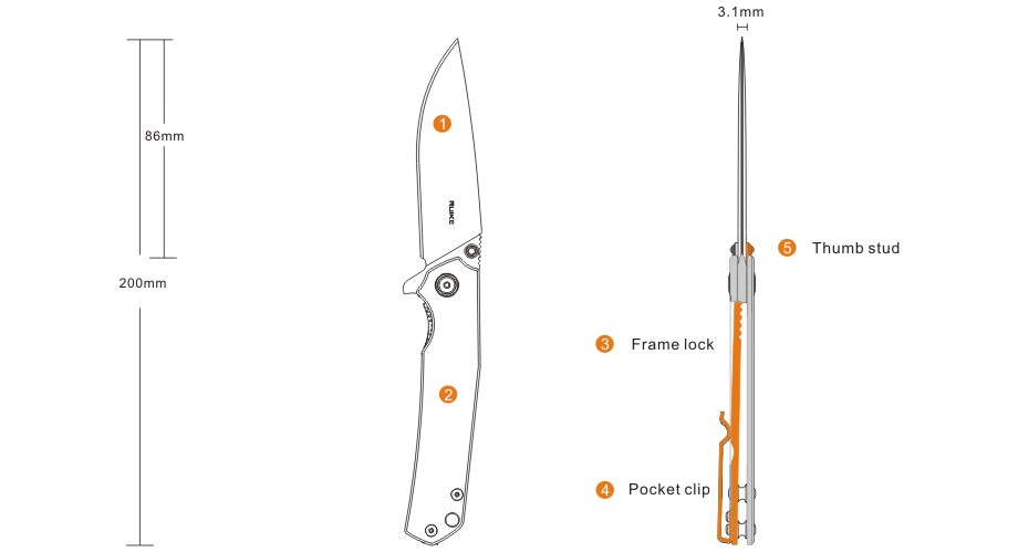 Ruike Everyday Carry Knife – Folding 801SF: Quality Far Beyond the Price