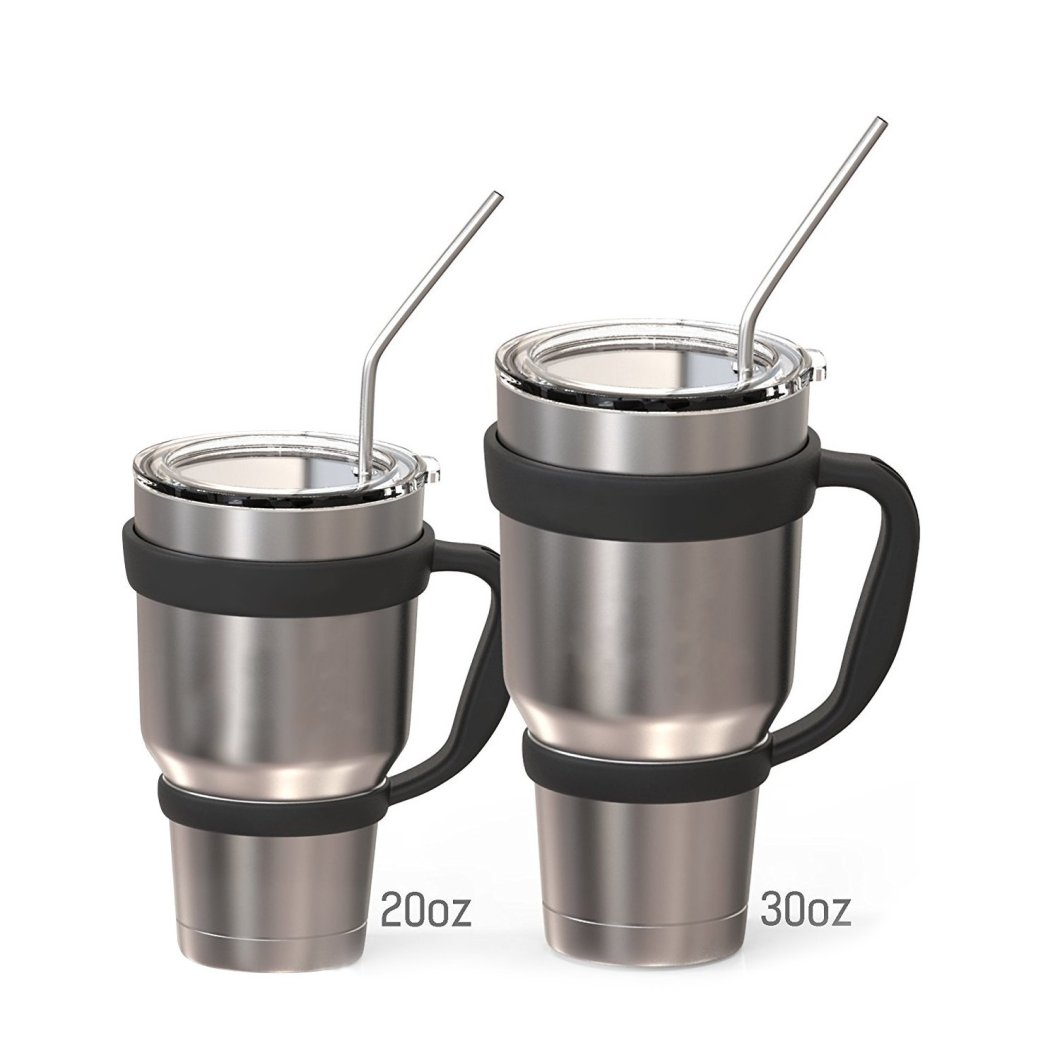 Stainless Steel Drinking Straws – Curved and Straight: Perfect for Your Yeti