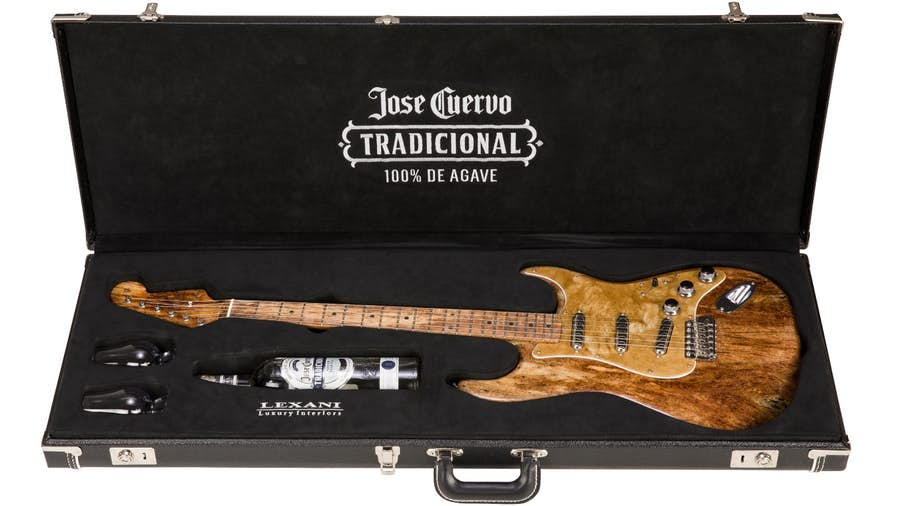 X Cuervo Fender Stratocaster Guitar: Made Out of an Agave Plant?