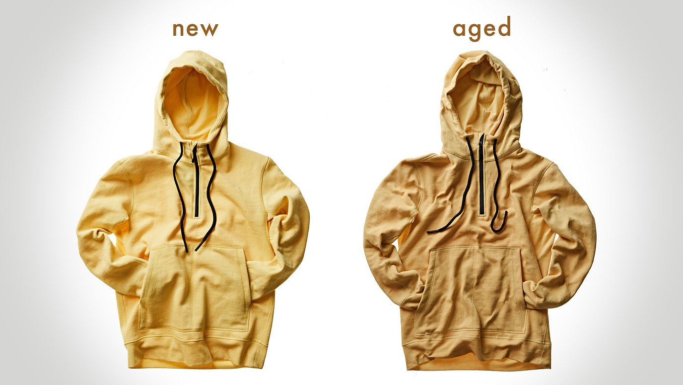 100 Year Hoodie Before and After
