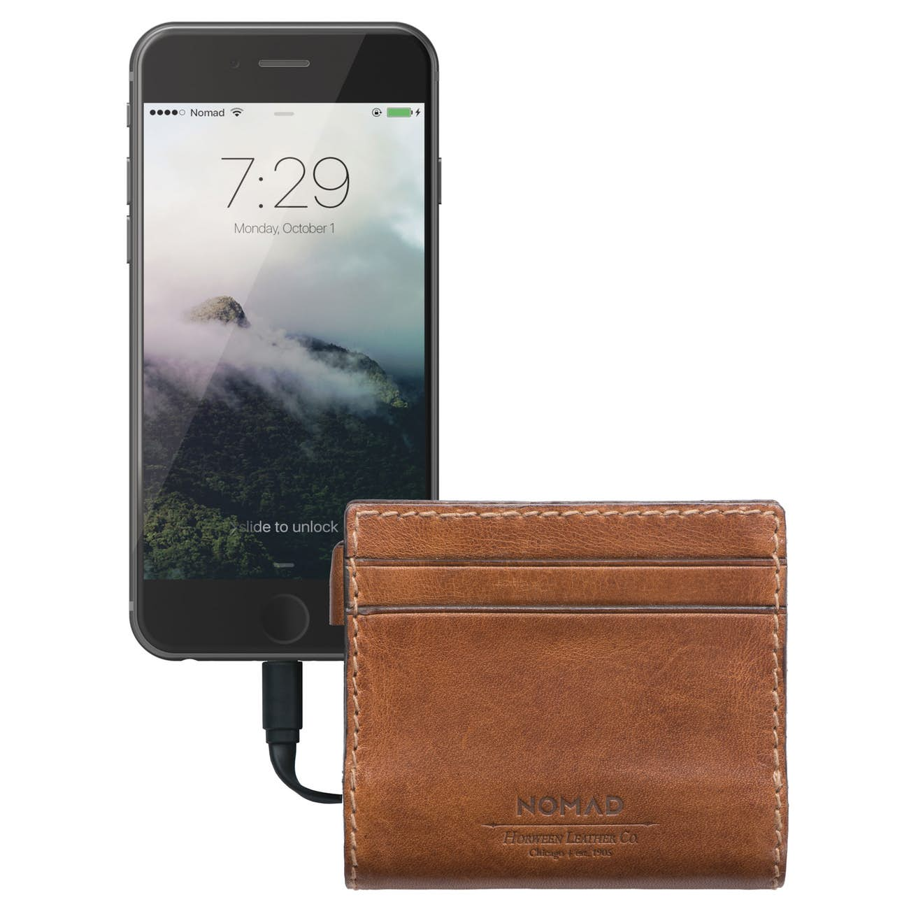 Nomad Slim Charging Wallet Front