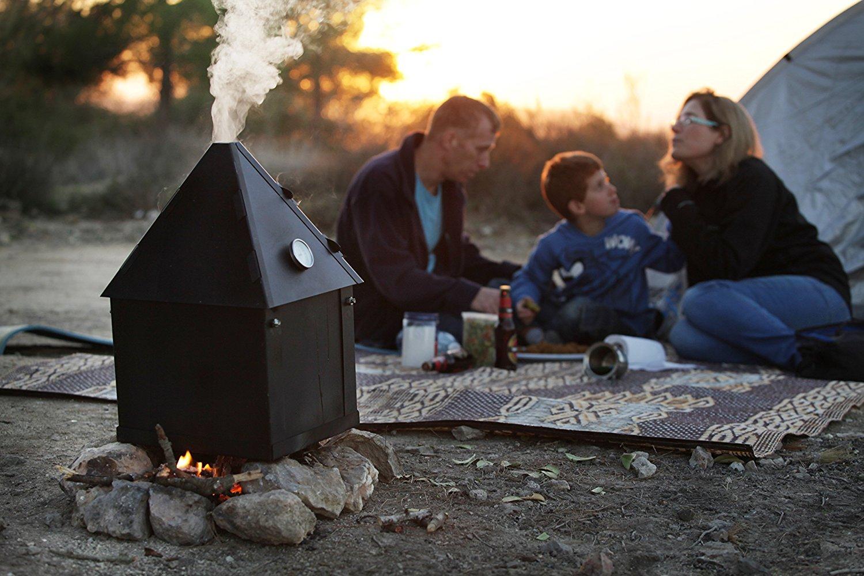 ziv's portable smoker campsite