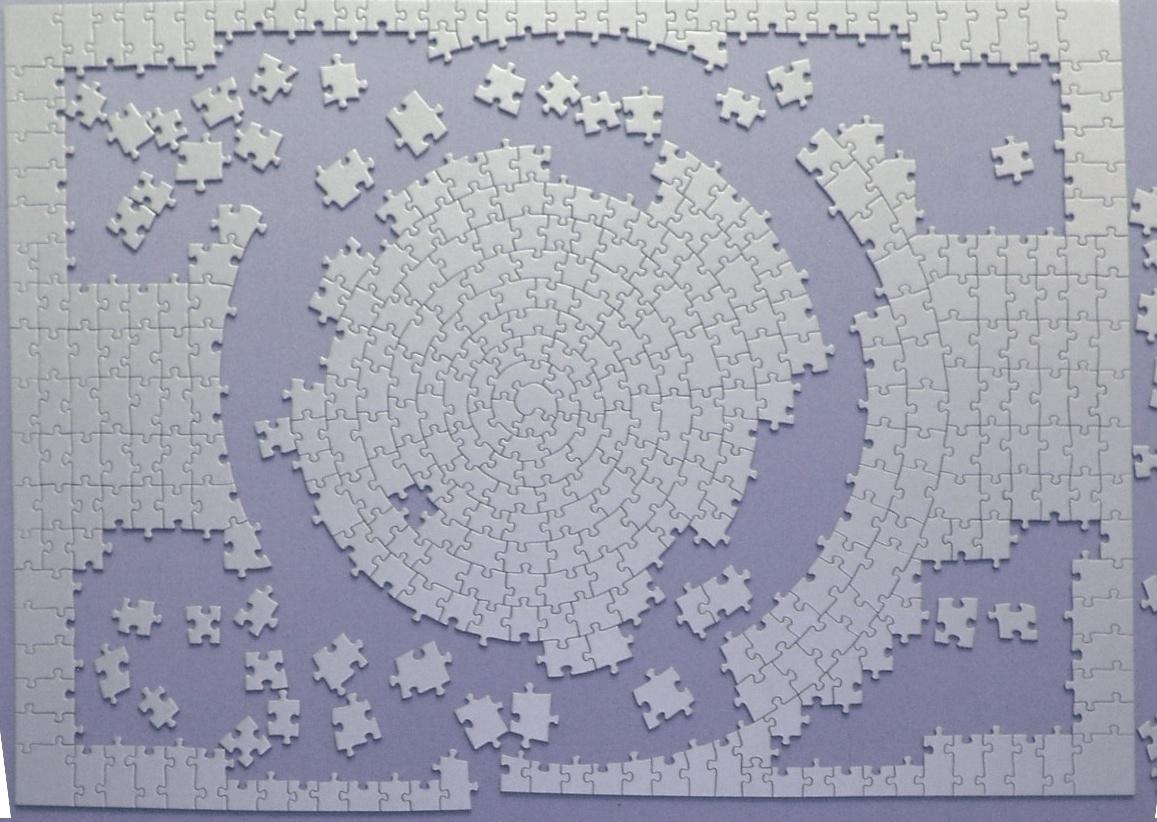 "Ravensburger Silver ""Krypt"" Puzzle"