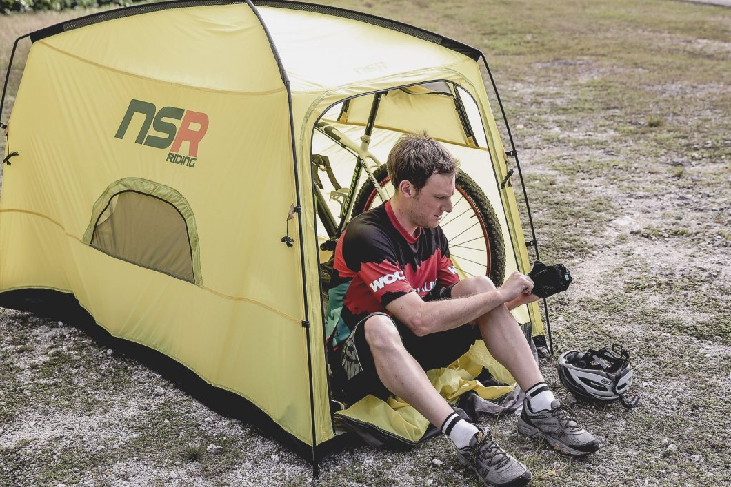 The Bicycle Tour Camping Tent Lets Your Bike Sleep By Your Side