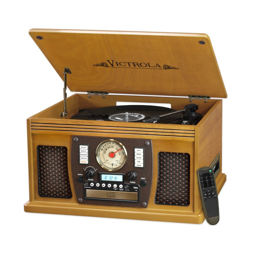 This 8-in-1 Victrola Turntable is A Thing of Beauty – for Cheap