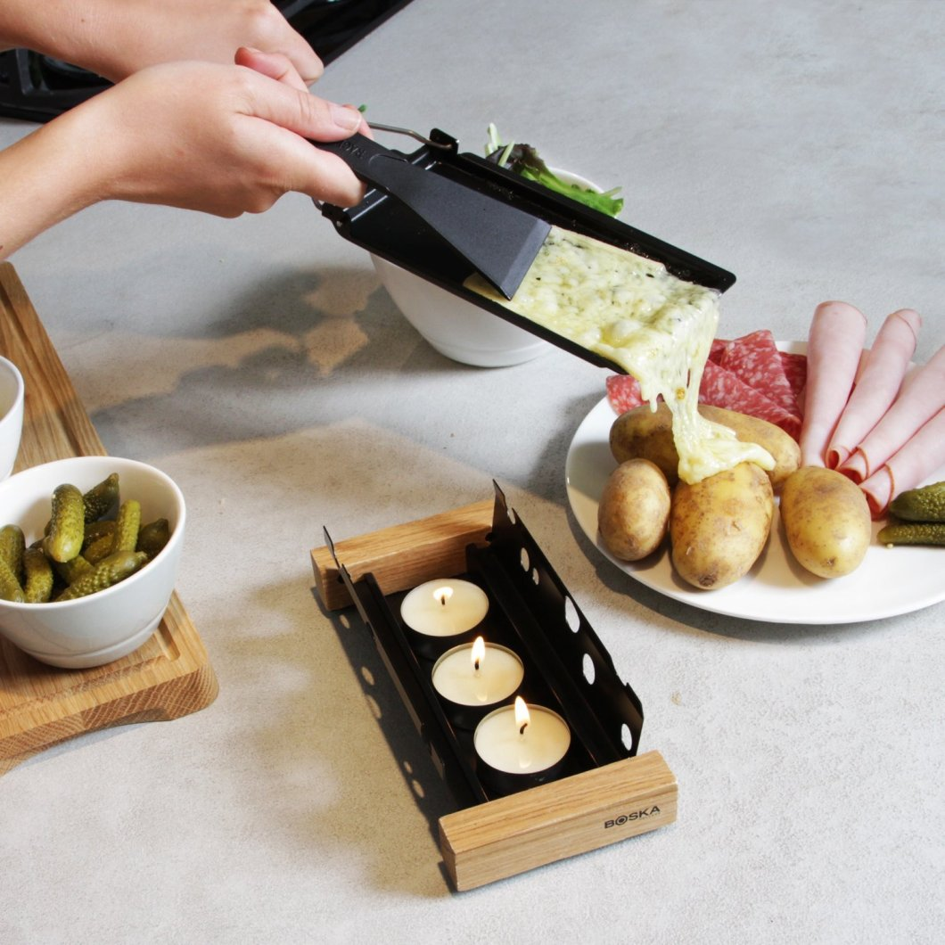 Raclette Tea-Light Cheese Melter: Ready for Your Holiday Parties