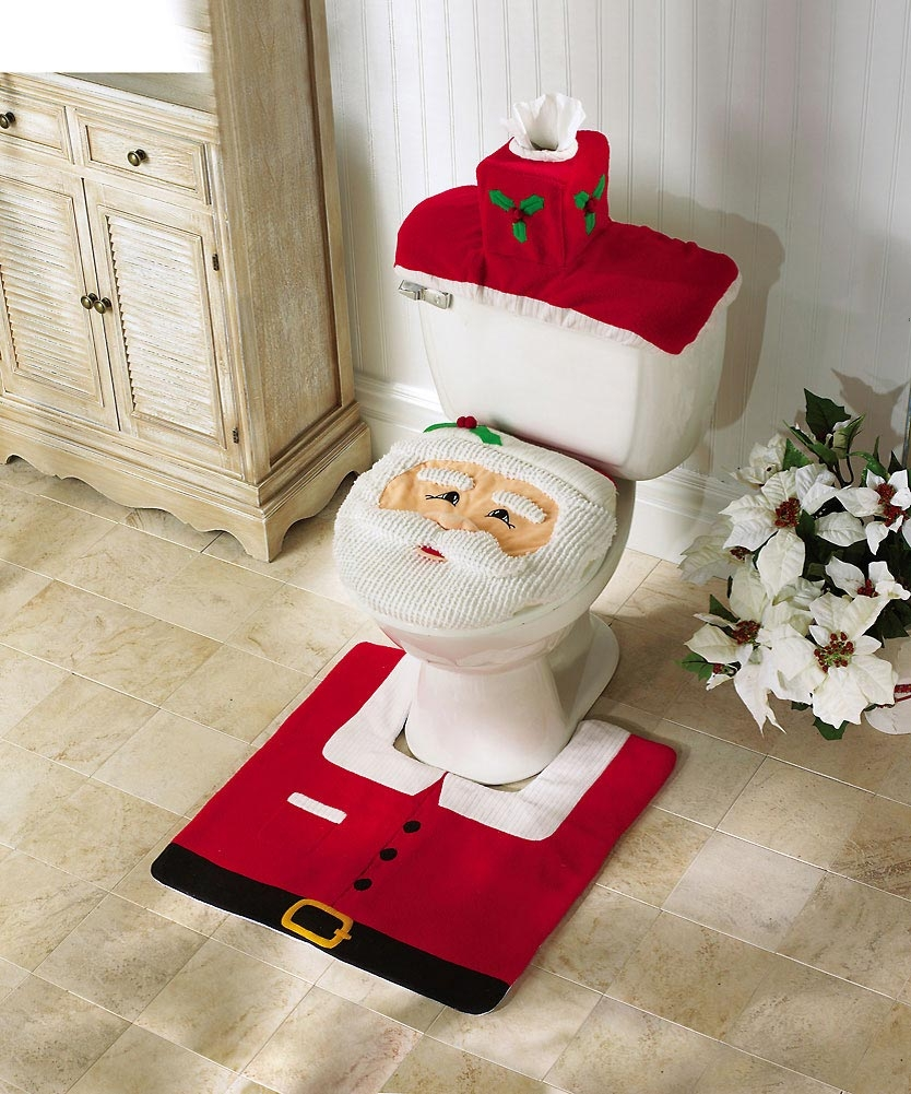 Christmas Family PJs Toilet