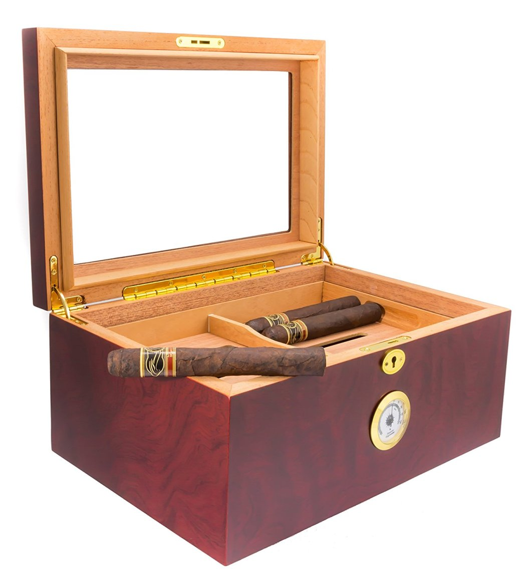 Best Cheap Humidor: The Mantello 100 Cigar Desktop